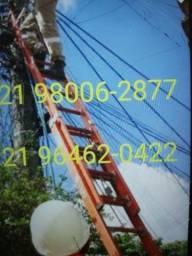 Título do anúncio: Escada de fibra 9,0 7,20 6.0 e 4,80 m