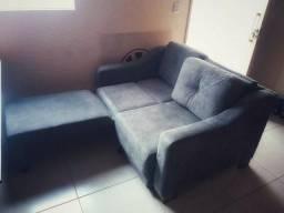 Sofa cama 2 lugares ultra suede