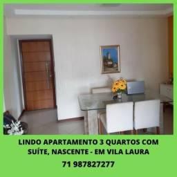 Apartamento 3 quartos, 1 suíte, nascente (oportunidade) - em Vila Laura