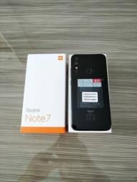 Smartphone Xiaomi Redmi Note7 Preto, Tela 6.3 , 4gb+64gb