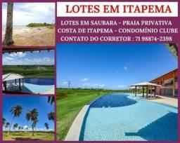Lotes em Itapema, Condomínio com Total Infraestrutura e Praia Privativa,