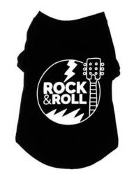 Camiseta para cães rock and roll GG