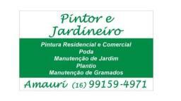 Pintor e jardinagem *