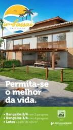 Casas 2 e 3 quartos Praia de Imbassaí pé na areia