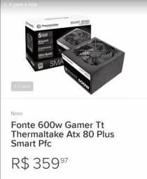 Fonte real gamer 600w + 80plus