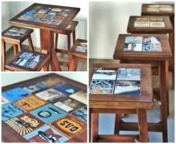 Conjunto de mesa e cadeiras Bistro Bar e Restaurantes