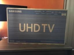 Smart TV 4K LED 55 Samsung 55RU7100- Wi-Fi 3 HDMI 2 USB