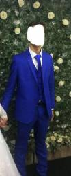 Terno Azul Royal slim