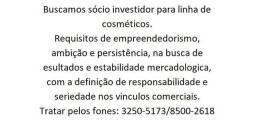 Investidor para linha de cosméticos