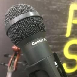 Microfone + pedestal + cabo