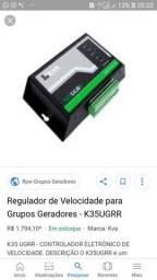 Regulador eletrônico de velocidade pra gerador com motores a diesel