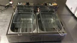 Fritadeira Profissional Elétrica 2 Cubas 5 Litros Venâncio