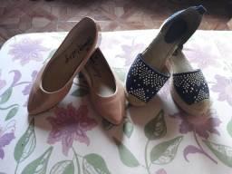 Vendo esses dois sapatos