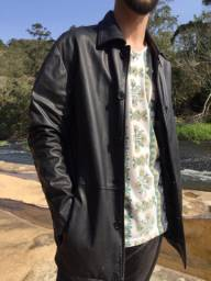Jaqueta de couro impecável marca Vide Bula Clothes 1982