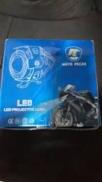 1par Farol Led Angel Eye Auxiliar Neblina Moto U7 Luz Azul