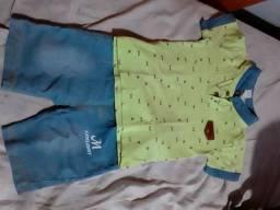 Lote de roupa pra menino