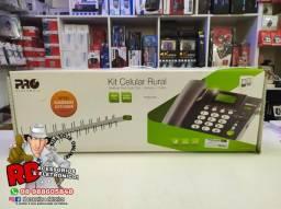 Kit celular de mesa chip antena-cabo desbloqueado telefone rural
