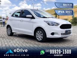 Ford KA 1.5 SE Flex - IPVA 2021 Pago - 4 Pneus Zeros - Financio - Completo - 2018