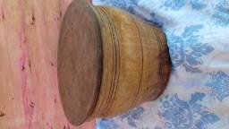 Bacia de madeira com tampa, 20 litros