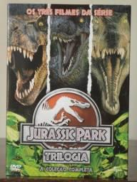 Box DVD Jurassic Park Trilogia Classica Com Luva