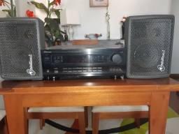 Receiver Pioneer VSX-D509S e par de Caixa Acústica
