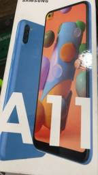 Título do anúncio: Samsung A11 64gb na caixa completo