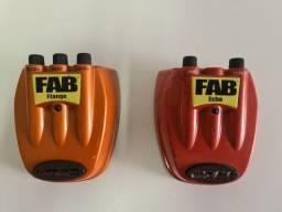 Título do anúncio: Pedais FAB Flange e Echo