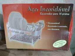 Escorredor de prato inox na caixa
