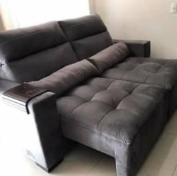 Sofa retratil e reclinavel pilowtop sob medida direto fabrica