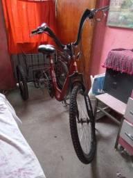Vendo triciclo com cesta semi novo