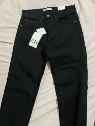 Título do anúncio: Calça jeans Zara Nova 38 com etiqueta