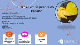 Título do anúncio: Contrato Técnico em Segurança do Trabalho