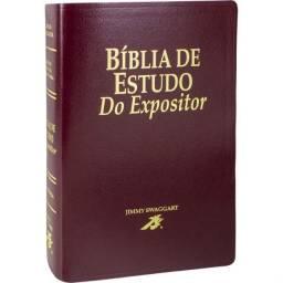 Bíblia de Estudo do Expositor | VTE | Grande | Luxo | Vinho