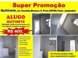 Título do anúncio: Ótimo Quitinete no Castelo Branco, próximo UFPB, Com água grátis