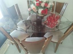Título do anúncio: Mesa com seis cadeiras