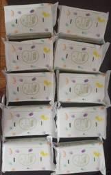 10 pacotes de lenços umedecidos Mamãe e Bebê Vegano