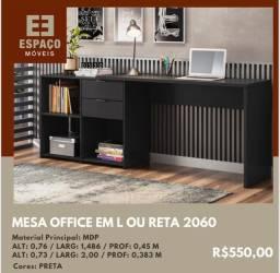 Título do anúncio: Mesa Office em L ou Reta para Escritório #Entrega e Montagem Grátis