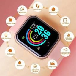 Título do anúncio: Smartwatch Y68 Pulseira Rosa Frequência Cardíaca