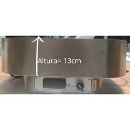 Título do anúncio: Bandeja Inox Térmica Elétrica - 220 volt. Com controlador de temperatura da Jaf Metal.