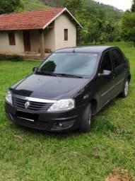 Renault Logan completo 1.6 preto 2013
