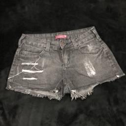 Short jeans preto 36