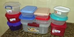 Depositos variados tamanhos e cores