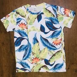 Camisas de malha floral. Só atacado
