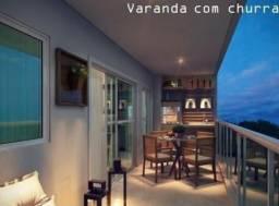 Apto de 4 quartos em porcelanato com 122m², suite, varandas e garagem - Itaborai-Centro