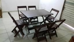 Mesas e cadeiras dobrável