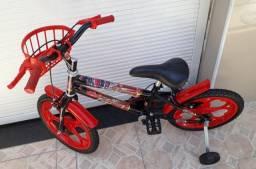 Bicicleta infantil aro 16 do Mc Queen