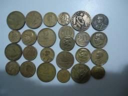 25 moedas bronze centavos cruzeiros colecionadores