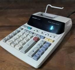 Calculadora de mesa Sharp El-1801v com bobina