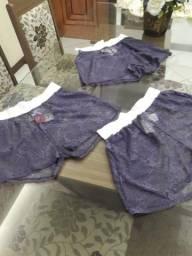 3 shorts praia em renda por 60.00