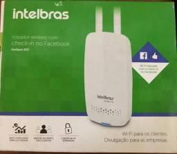 Roteador intelbras com check-in em rede social , NOVO NA CAIXA